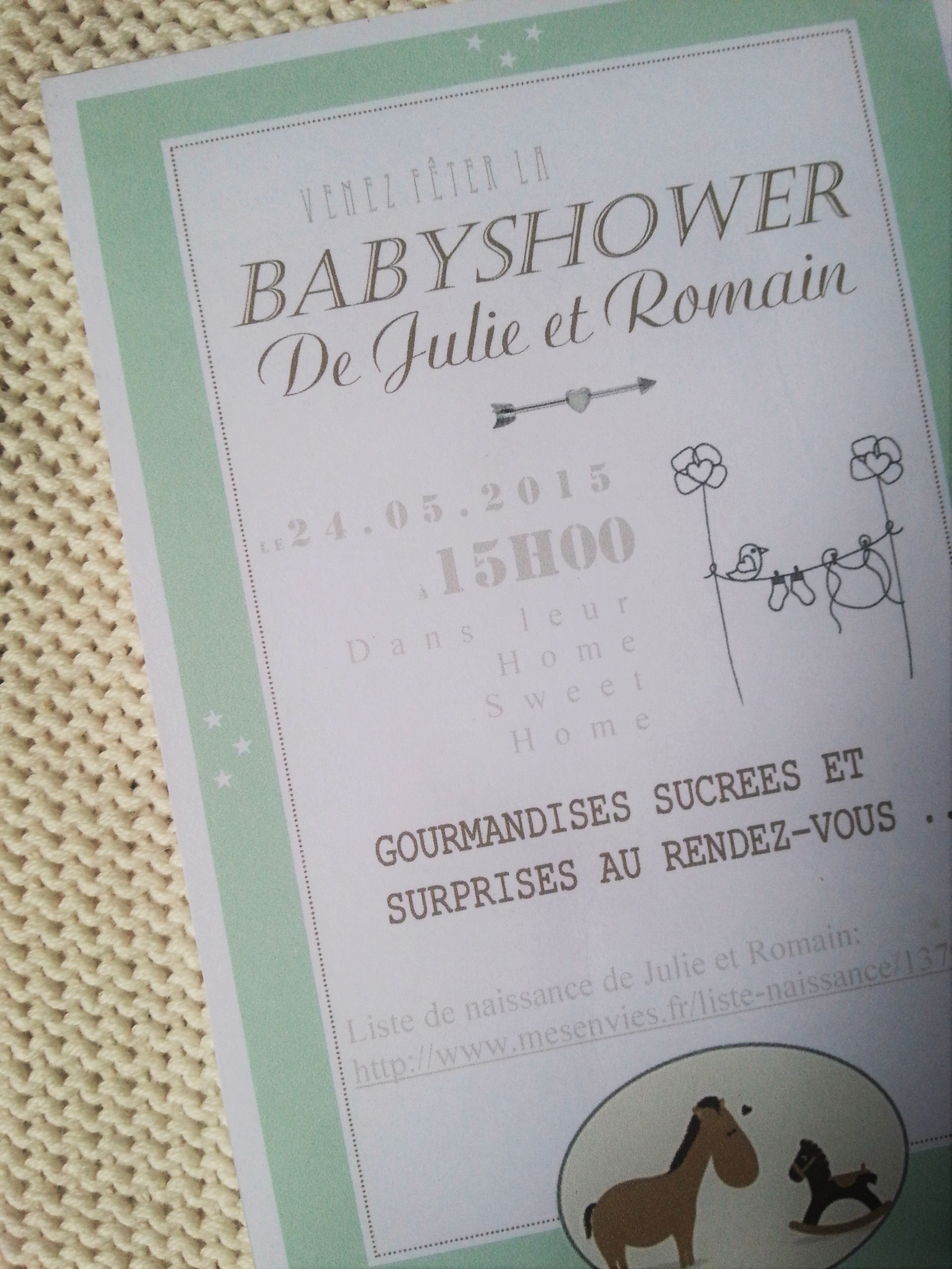 Ma Baby Shower Mixte Bavardages Compagnie