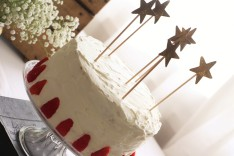 Gâteau chantilly / fraises